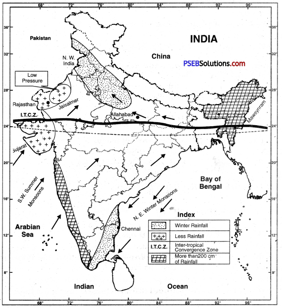 PSEB 10th Class SST Solutions Geography Chapter 3 The Climate 3
