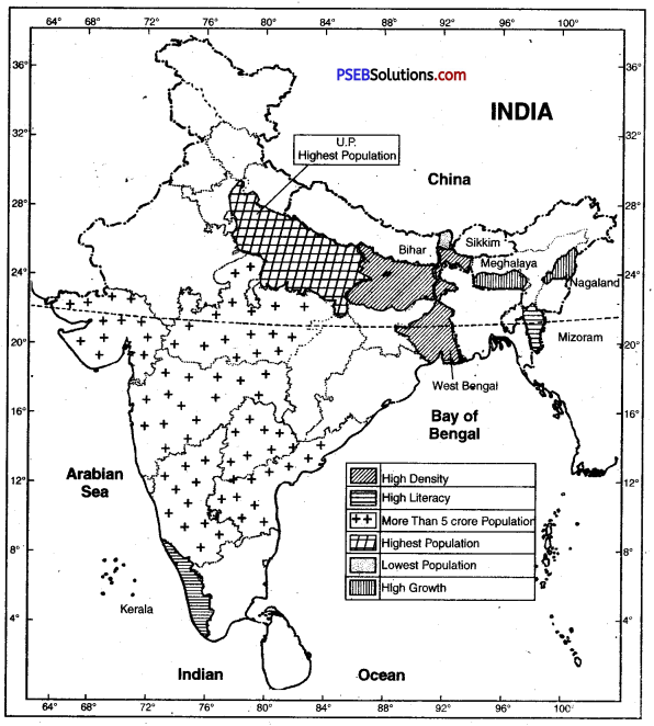 PSEB 10th Class SST Solutions Geography Chapter 7 Population 6