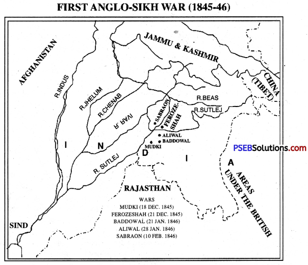 PSEB 10th Class SST Solutions History Chapter 8 The Anglo-Sikh Wars and Annexation of Punjab 1