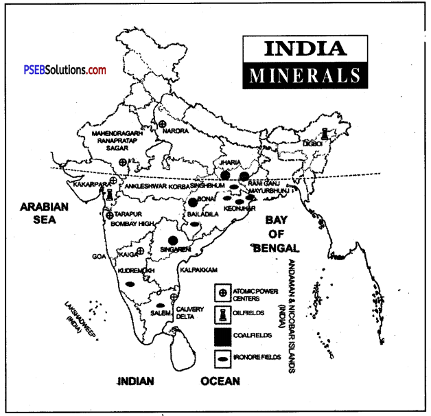 PSEB 8th Class Social Science Solutions Chapter 3 Minerals and Energy Resources 1