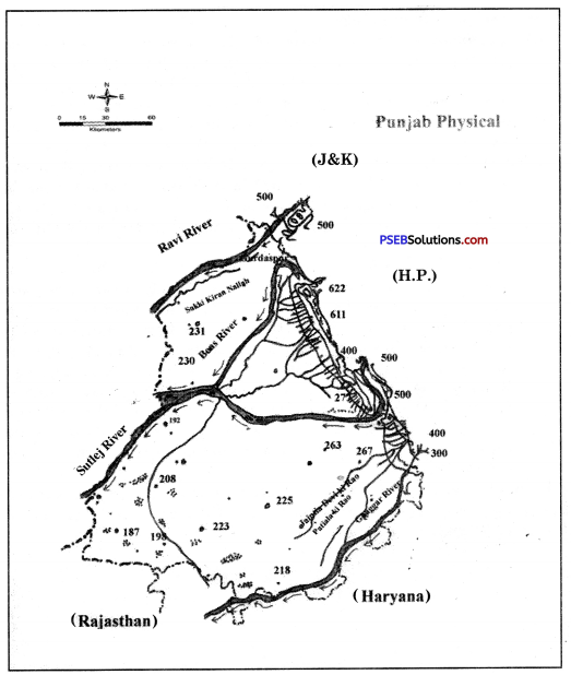 PSEB 9th Class SST Solutions Geography Chapter 2b Punjab Physical Features or Physiography 1