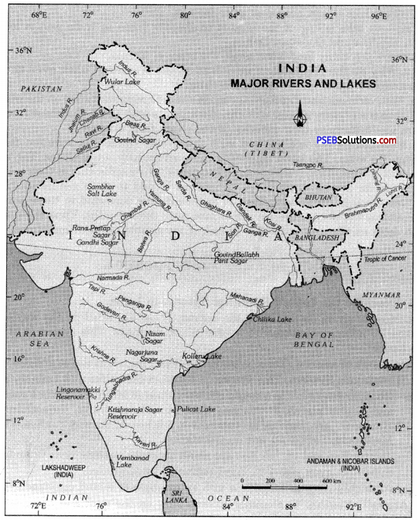 PSEB 9th Class SST Solutions Geography Chapter 3a India Drainage 1