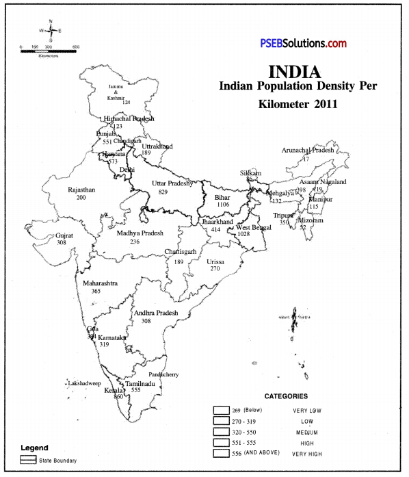 PSEB 9th Class SST Solutions Geography Chapter 6 Population 1