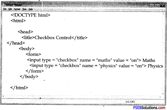 PSEB 10th Class Computer Notes Chapter 3 HTML II Notes 3