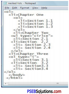 PSEB 10th Class Computer Science Solutions Chapter 2 HTML Fundamentals 1