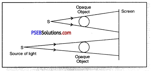 PSEB 6th Class Science Solutions Chapter 11 Light Shadows and Reflections 1