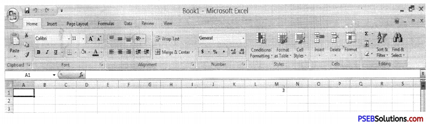 PSEB 9th Class Computer Notes Chapter 1 MS Excel Part-I 1