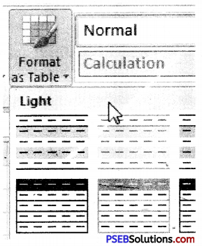 PSEB 9th Class Computer Notes Chapter 1 MS Excel Part-I 10