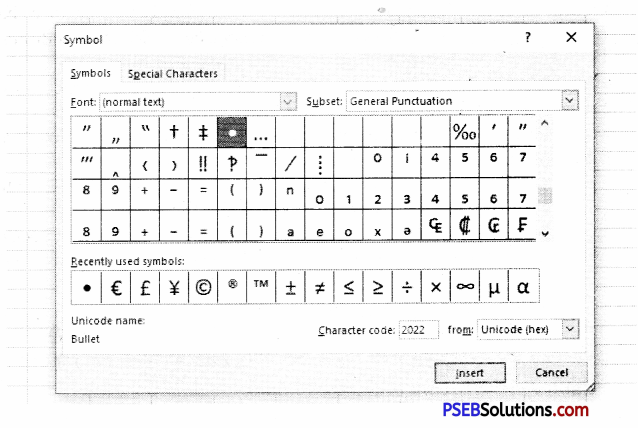 PSEB 9th Class Computer Notes Chapter 2 MS Excel Part-II 11