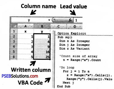 PSEB 9th Class Computer Solutions Chapter 1 MS Excel Part-I Img 12
